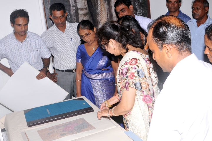 exhibits of water colour paintings-after